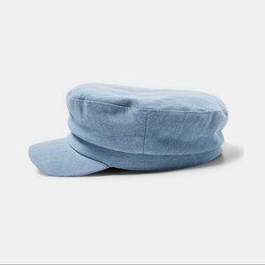 Zara Denim Nautical Baker Boy Cap S-M